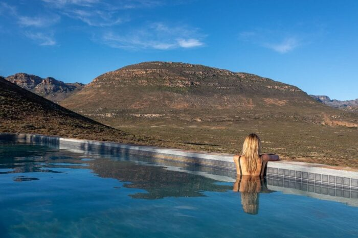 Cederberg Ridge Wilderness Lodge view from pool