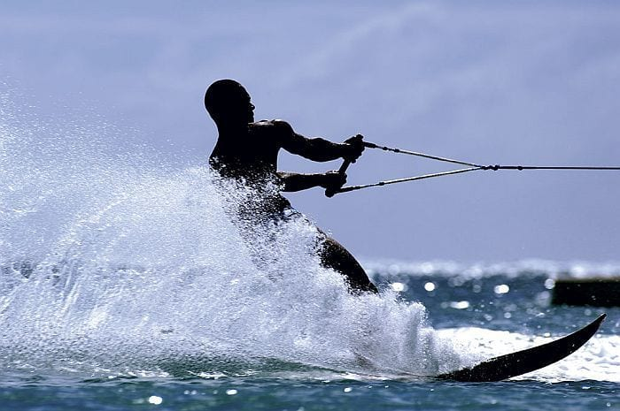 Mauritius versus Seychelles - Waterskining at Le Prince Maurice,, East Coast Mauritius