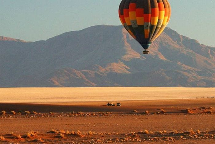 Hot air ballooning safari in Namib