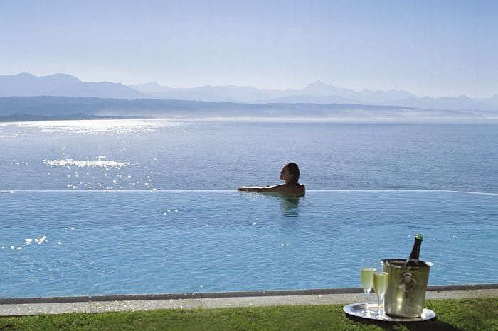 Best-honeymoon-destinations-in-SAView over the bay from The Plettenberg