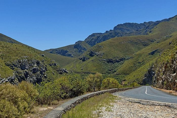 Scenic Tradouw pass just off Route 62
